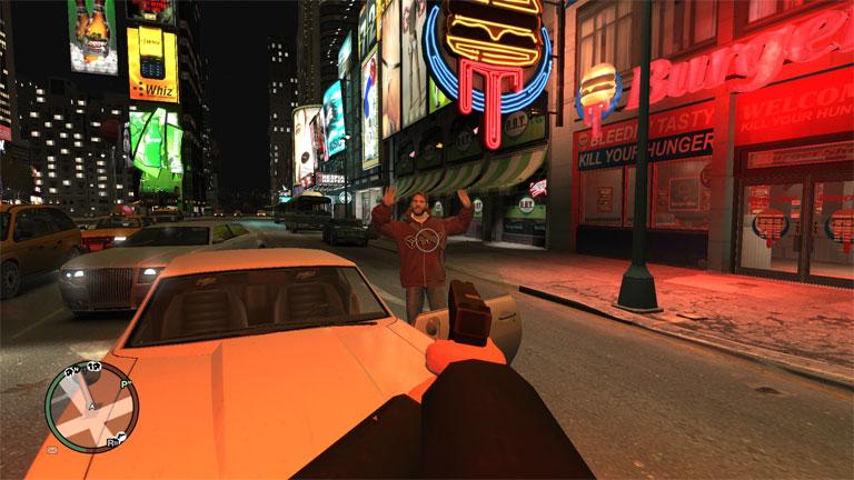 Вид от первого лица в GTA 4